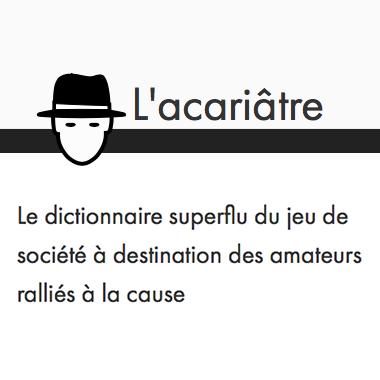 Dictionnaire superflu du jeu de société